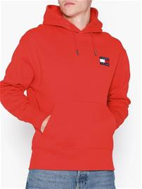 Tommy Jeans Tjm Tommy Badge Hoodie Puserot Punainen