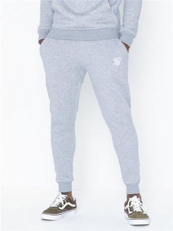 SikSilk Muscle Fit Jogger Housut Grey Marl