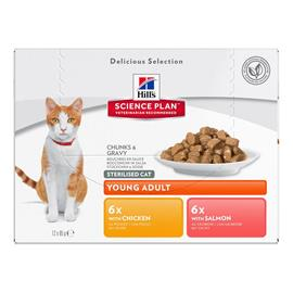 Hill's Science Plan Young Adult Sterilised Cat - Salmon (12 x 85 g)