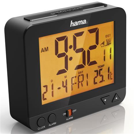 Hama RC 550, radio-ohjattu herätyskello jossa yövalo