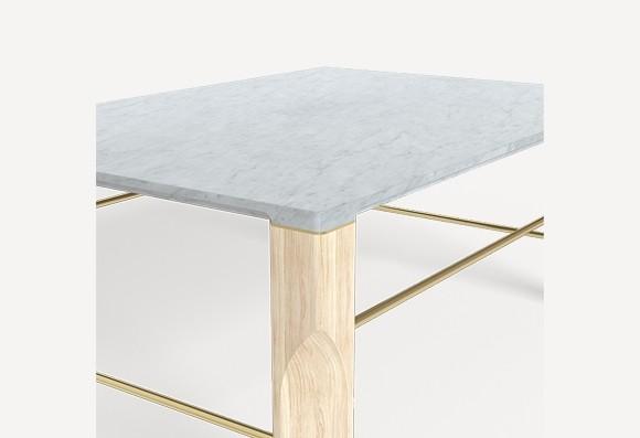Harto Josephine, sohvapöytä, marmori/tammi