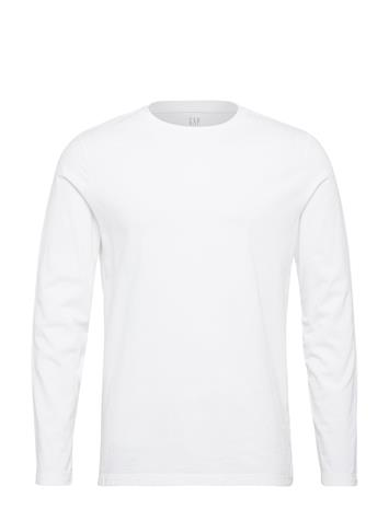 GAP Long Sleeve Classic T-Shirt T-shirts Long-sleeved Valkoinen GAP OPTIC WHITE