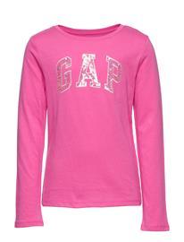 GAP V-Fr Ls Logo T T-shirts Long-sleeved T-shirts Vaaleanpunainen GAP DEVI PINK