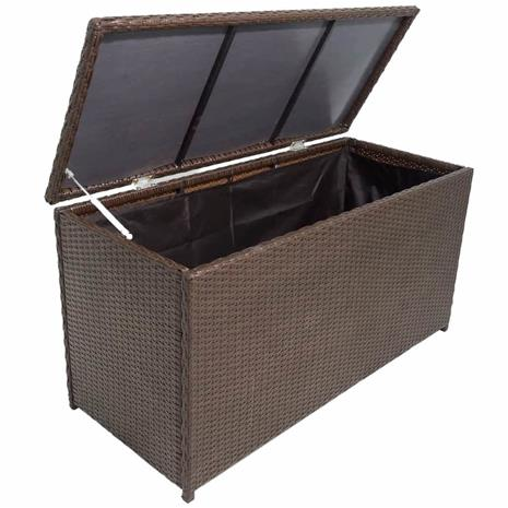 vidaXL Puutarhan säilytyslaatikko ruskea 120 x 50 x 60 cm polyrottinki
