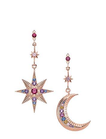 Thomas Sabo Earrings Royalty Star & Moon Korvakoru Korut Vaaleanpunainen Thomas Sabo PINK