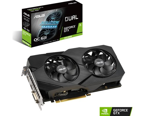 ASUS GeForce GTX 1660 SUPER Dual OC EVO 6 GB, PCI-E, näytönohjain