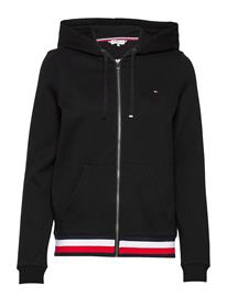 Tommy Hilfiger Zip-Through Hoodie Huppari Musta Tommy Hilfiger BLACK