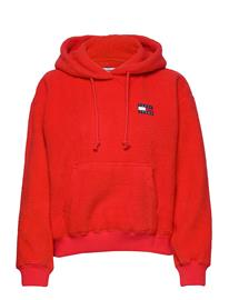 Tommy Jeans Tjw Tommy Polar Fleece Hoodie Huppari Punainen Tommy Jeans RACING RED