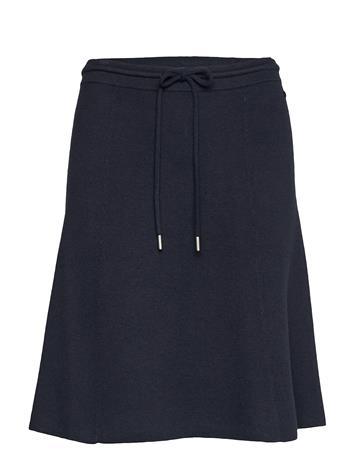 Marc O'Polo Heavy Knit Skirt, Doubleface Polvipituinen Hame Sininen Marc O'Polo MIDNIGHT SEA