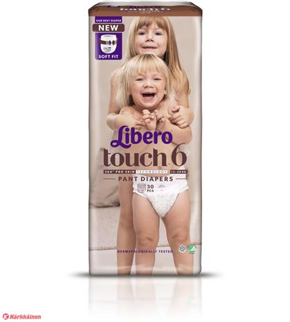 Libero Touch koko 6, 13-20 kg 30 kpl housuvaippa