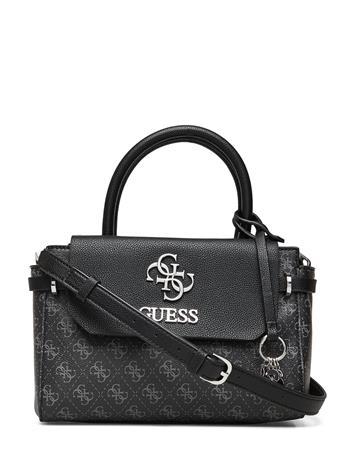 GUESS Esme Small Society Satchel Bags Top Handle Bags Harmaa GUESS COAL