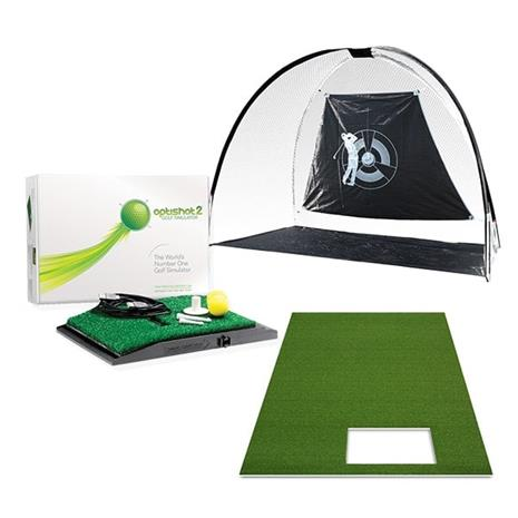 Optishot deluxe package incl. driving mat & net