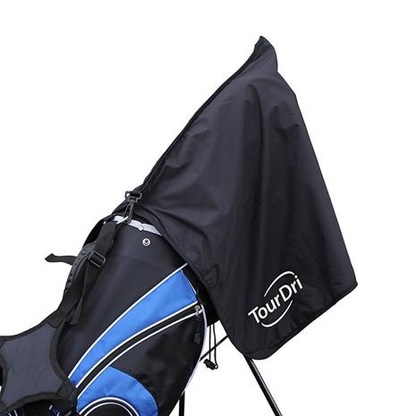 TourDri 2-in-1 Bag Hood & Towel Black