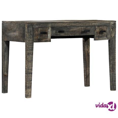 vidaXL Työpöytä musta 110x50x75 cm täysi mangopuu