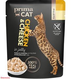 PrimaCat Fillets Kanaa ja juustoa hyytelössä 50 g