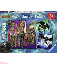 Ravensburger How to Train Your Dragon 3x49p palapeli