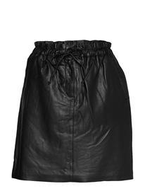 Karen By Simonsen Emmykb Leather Skirt Lyhyt Hame Musta Karen By Simonsen METEORITE BLACK