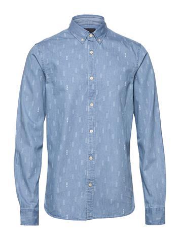 Scotch & Soda Ab Regular Fit Aop Shirt With Seasonal Artworks Paita Rento Casual Sininen Scotch & Soda COMBO E