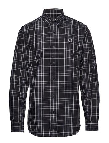 Fred Perry Tonal Check Shirt Paita Rento Casual Musta Fred Perry BLACK