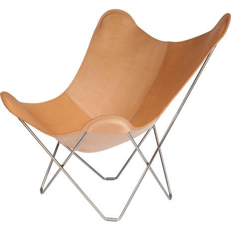 Cuero Pampa Mariposa BF Chair, Crude Nature/Chrome