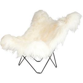 Cuero Iceland Mariposa BF Chair, Wild White/Black
