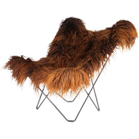 Cuero Iceland Mariposa BF Chair, Wild Brown/Chrome