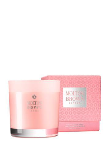 Molton Brown Delicious Rhubarb & Rose Three Wick Candle Tuoksukynttilä Nude Molton Brown NO COLOUR
