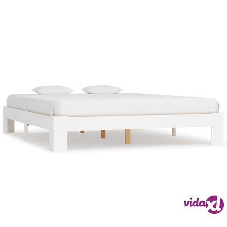 vidaXL Sängynrunko valkoinen mänty 180x200 cm