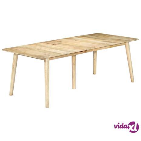 vidaXL Ruokapöytä 220x100x76 cm täysi mangopuu