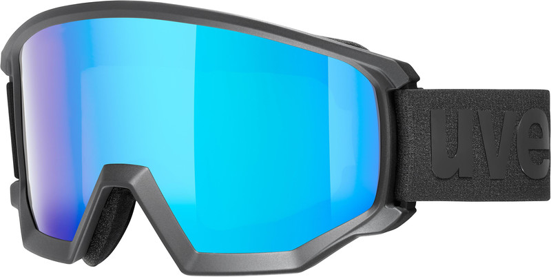 UVEX Athletic CV Uimalasit, black mat/colorvision blue fire