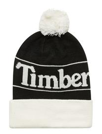 Timberland Ycc Pom Cuffed Beanie Accessories Hats & Caps Beanies Musta Timberland BLACK
