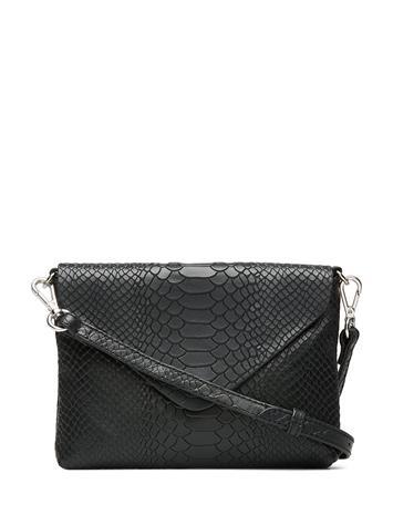 Markberg Jenny Crossbody Bag, Snake Bags Small Shoulder Bags - Crossbody Bags Musta Markberg BLACK