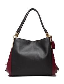 Coach Colorblock Mixed Leather Dalton 31 Shoulder Bag Bags Top Handle Bags Musta Coach B4/BLACK MULTI