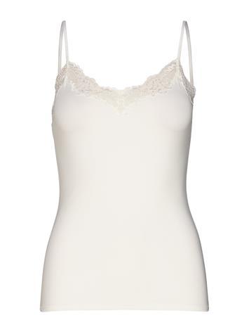 Lindex Camisole Micro W Lace Trim Ann Body Alusmekko Valkoinen Lindex OFF WHITE