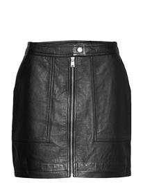 Superdry Edit Cassidy Leather Skirt Lyhyt Hame Musta Superdry MANOR HOUSE BLACK