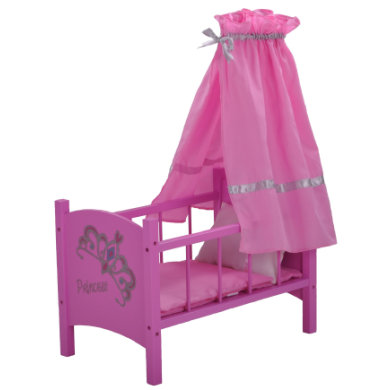 knorr® toys Nuken sänky ja katos - diadem pink - roosa/pinkki