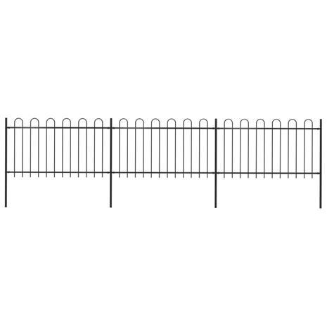 vidaXL Puutarha-aita kaarikärjillä 5,1x1 m teräs musta