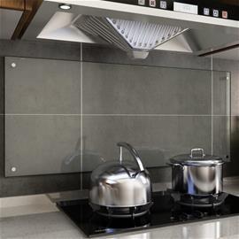 vidaXL Keittiön roiskesuoja läpinäkyvä 120x50 cm karkaistu lasi
