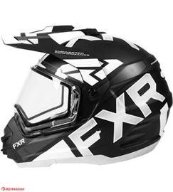 FXR Torque X Evo Electric Shield musta/valkoinen kypärä