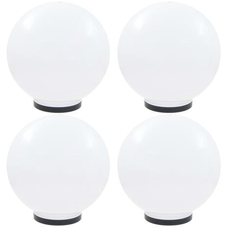 vidaXL LED-pallovalaisimet 4 kpl 40 cm akryyli
