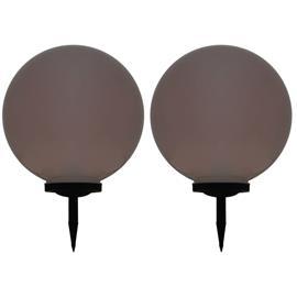 vidaXL LED-aurinkokennovalaisin 2 kpl väriä vaihtava pyöreä 50 cm RGB