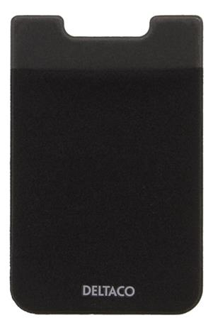 DELTACO Adhesive credit card holder, 3M adhesive, black