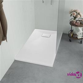 vidaXL Suihkualusta 100x70 cm SMC valkoinen