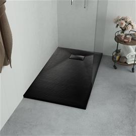 vidaXL Suihkualusta 100x70 cm SMC musta