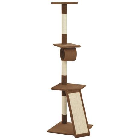 vidaXL Kissan kiipeilypuu sisal-pylväillä 160 cm