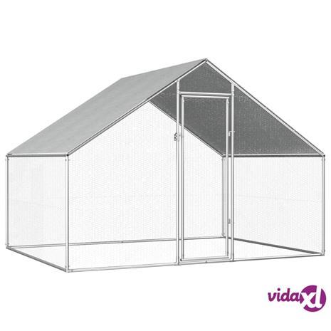 vidaXL Ulkotilan kanahäkki galvanoitu teräs 2,75x2x2 m