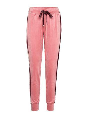 Hunkemöller Jogger Velours Stripe Pyjamahousut Olohousut Vaaleanpunainen Hunkemöller BRANDED APRICOT