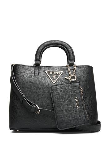 GUESS Aretha Girlfriend Satchel Bags Top Handle Bags Musta GUESS BLACK