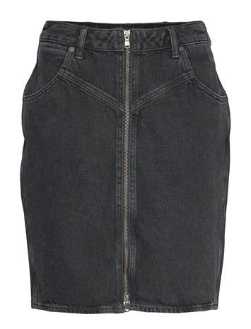 Wrangler High Zip Skirt Black St Lyhyt Hame Musta Wrangler BLACK STONE