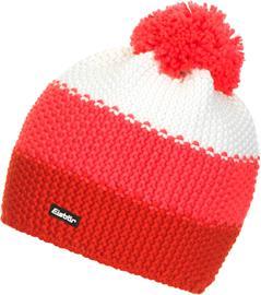 Eisbär Star Tupsullinen pipo Naiset, fiery red/diva pink/white